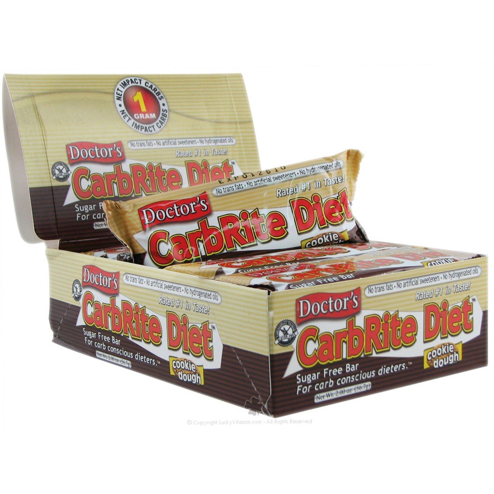 Universal Nutrition, Doctor's CarbRite Diet, Диетические батончики из песочного теста без сахара, 12 батончиков, 2 унции (56,7 г) каждый
