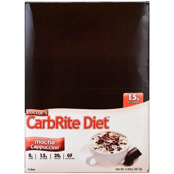 Universal Nutrition, ドクターズ・カーブライトダイエット、モカカプチーノ、12本、2.00 oz (56.7 g) (Discontinued Item)