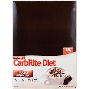 Юниверсал Нутришэн, Doctor's CarbRite Diet, Mocha Cappuccino, 12 Bars, 2.00 oz (56.7 g) отзывы покупателей