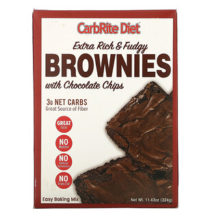 Universal Nutrition, CarbRite Diet, Extra Rich & Fudgy Brownies with Chocolate Chips, 11.43 oz (324 g)