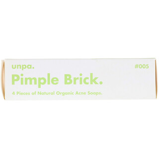 Unpa., Pimple Brick, Natural Organic Acne Soaps, 4 Pieces