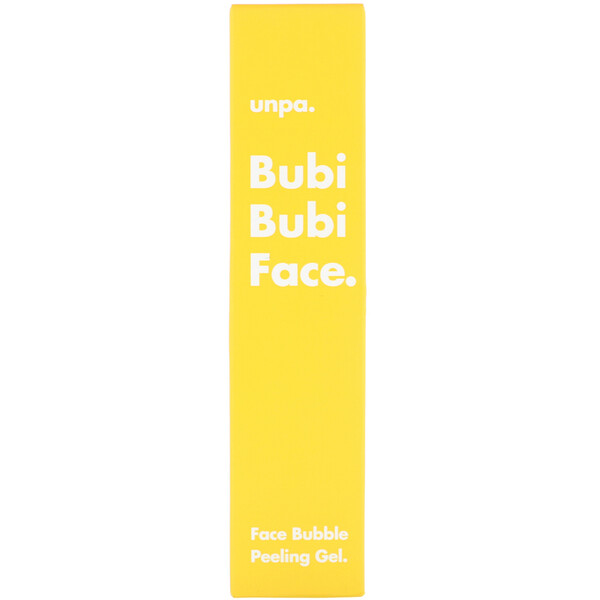 Unpa., Bubi Bubi Face, Face Bubble Peeling Gel, 50 ml