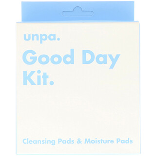 Unpa., Good Day Kit, Cleansing Pads & Moisture Pads, 6 Piece Kit