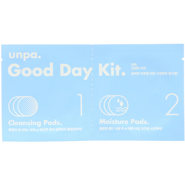 Unpa., Good Day Kit, Cleansing Pads & Moisture Pads, 6 Piece Kit (Discontinued Item)