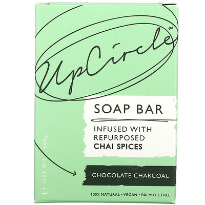 UpCircle Soap Bar, Chocolate Charcoal, 1 Bar