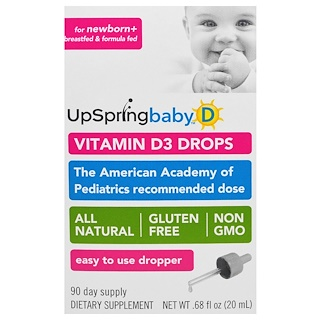 UpSpring, Vitamin D3 Drops, Baby, .68 fl oz (20 ml)