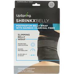 UpSpring, 收腹,竹炭纖維產後束腹帶,L/XL 碼,黑色