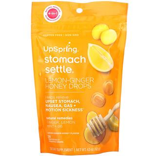 UpSpring, Stomach Settle Drops, Lemon-Ginger Honey, 28 Individually Wrapped Drops, 4.0 oz (112 g)