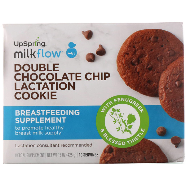 UpSpring, Milkflow, Lactation Cookies, Double Chocolate Chip, 10 Packets, 2 Cookies Each (Discontinued Item)