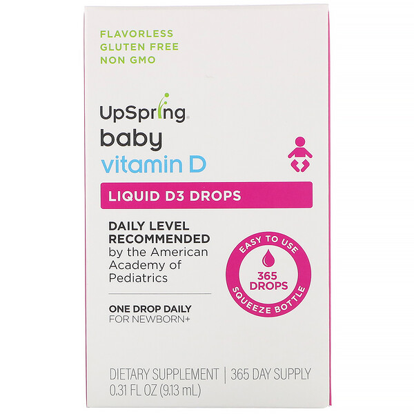 Baby, Liquid D3 Drops, Vitamin D,  0.31 fl oz (9.13 ml)
