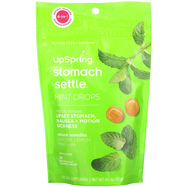 Stomach Settle Drops, Mint, 28 Individually Wrapped Drops, 4.0 oz ( 112 g)