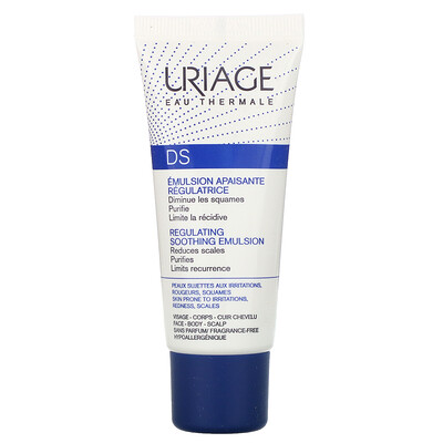 Uriage DS, Regulating Soothing Emulsion, Fragrance-Free, 1.35 fl oz (40 ml)