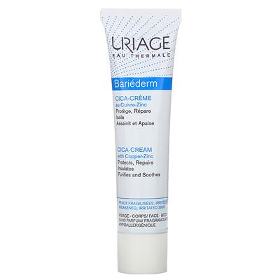 Купить Uriage Bariederm, Cica-Cream with Copper-Zinc, Fragrance-Free, 1.35 fl oz (40 ml)