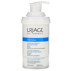 Uriage, Xemose,脂質補充無刺激滋潤霜,無香,13.5 盎司(400 毫升)