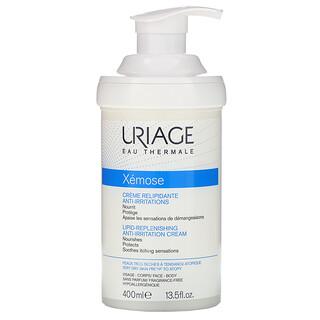 Uriage, Xemose, Lipid-Replenishing Anti-Irritation Cream, Fragrance-Free, 13.5 fl oz (400 ml)