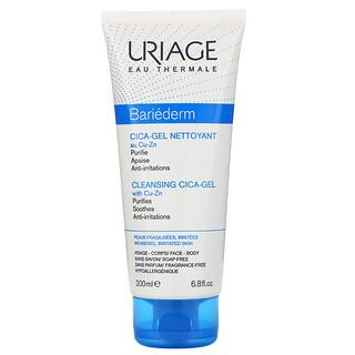 Uriage, Bariederm, Cleansing Cica-Gel with Cu-Zn, Fragrance-Free, 6.8 fl oz (200 ml)