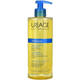 Uriage, Xemose, Cleansing Soothing Oil, Unscented, 17 fl oz (500 ml)