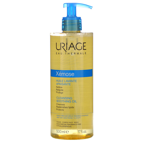 Uriage, Xemose, Cleansing Soothing Oil, Fragrance-Free, 17 fl oz (500 ml)