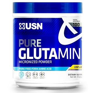 USN, чистый тонкоизмельченный глутамин порошок, без запаха, 17.63 унции, (500 гр)