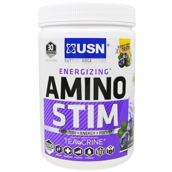 USN, Energizing, Amino Stim, Acai Berry, 11.64 oz (330 g) (Discontinued Item)