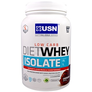 USN, Diet Whey Low Carb, Isolate, Chocolate, 1.59 lbs, (700 g)