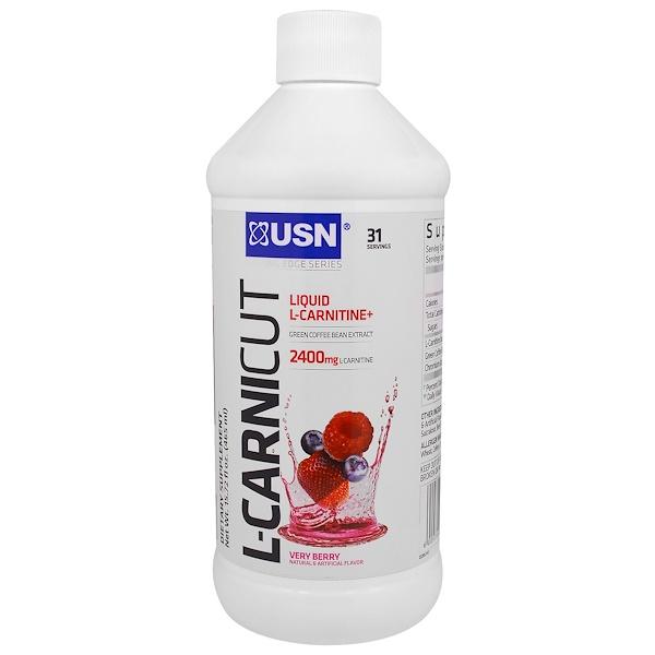 USN, 커팅 엣지 시리즈, L-카니커트, 베리 베리, 15.72 액량 온스 (465 ml)