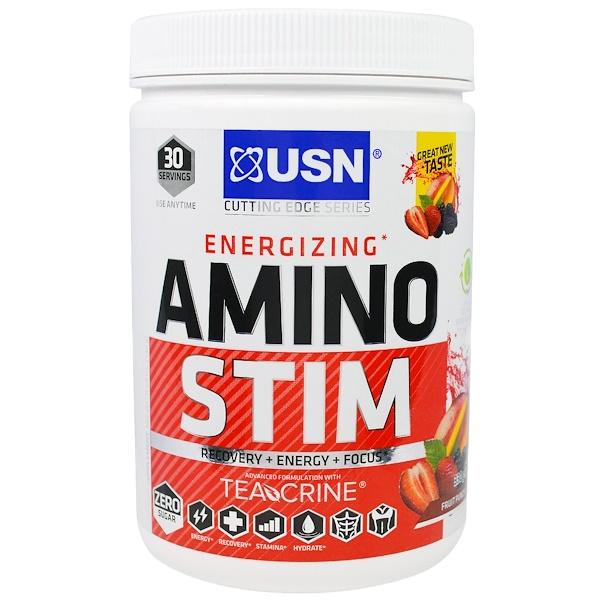 USN, Energizing, Amino Stim, Fruit Punch, 11.64 oz (330 g) (Discontinued Item)