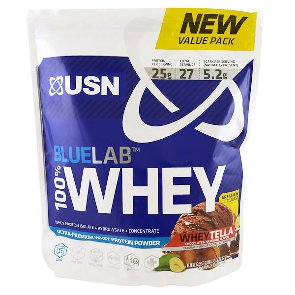 USN, BlueLab, 100% Whey, WheyTella, 2 lbs (918 g) (Discontinued Item)