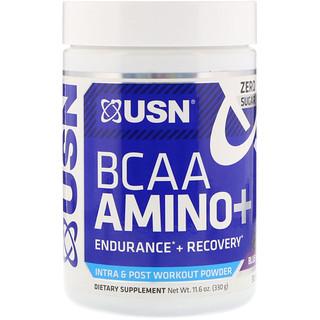 USN, BCAA Aminos Plus, Blue Raspberry, 11.6 oz (330 g)