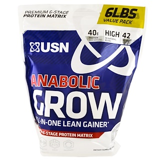 USN, Anabolic Grow, Chocolate Peanut Butter, 6 lbs (2.73 kg)