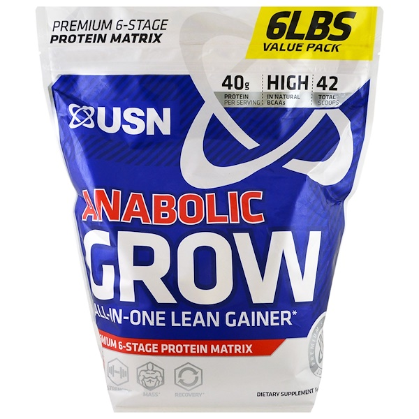 USN, Anabolic Grow, Chocolate, 6 lbs (2.73 kg) (Discontinued Item)