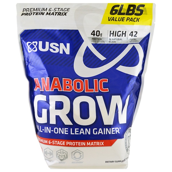 USN, Anabolic Grow, Cookies & Cream, 6 lbs (2.73 kg) (Discontinued Item)