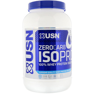 USN, Zero Carb ISOPRO, 100% Whey Protein Isolate, Apple Pie, 1.65 lb (750 g)