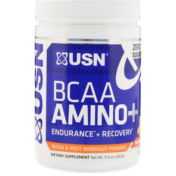 USN, BCAA Aminos Plus, Mango Pineapple, 11.6 oz (330 g) (Discontinued Item)