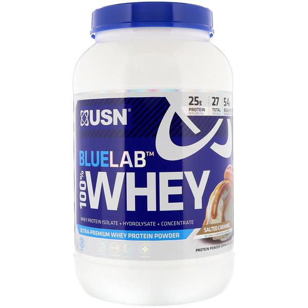 USN, BlueLab 100% Whey, Salted Caramel, 2 lbs (907.2 g) (Discontinued Item)