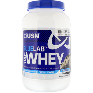 USN, Blue Lab 100% Whey, Cookies & Cream, 2 lb (907.2 g)
