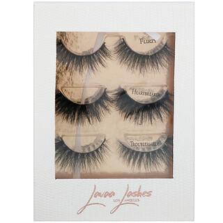 Lavaa Lashes, The 3 Besties, False Eyelashes Set, 1 Set