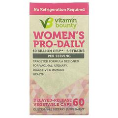 Vitamin Bounty, Women's Pro-Daily,100 億 CFU,60 粒緩釋素食膠囊