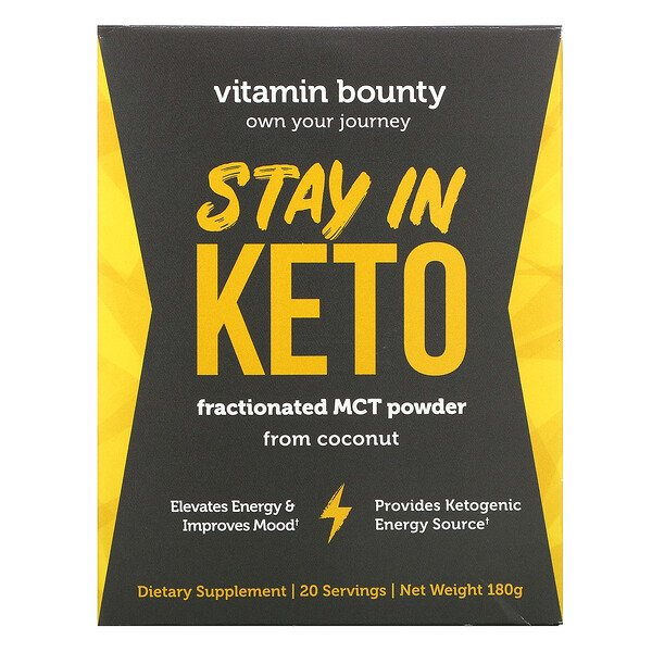 Vitamin Bounty, Stay In Keto, Fractioned MCT Powder from Coconut, 180 g