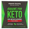 Vitamin Bounty, Greens For Keto, Raw Greens Powder, Berry Flavor, 180 g