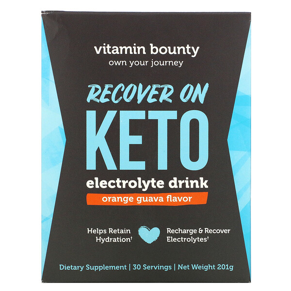 Recover On Keto, Electrolyte Drink, Orange Guava, 201 g