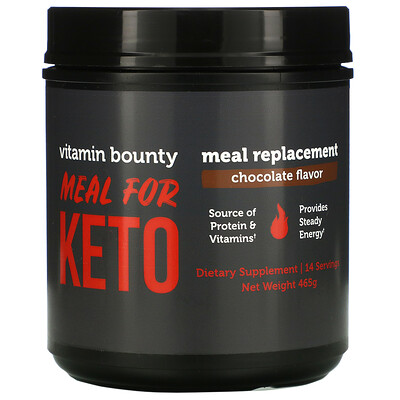 Vitamin Bounty Meal For Keto, Meal Replacement, Chocolate, 465 g