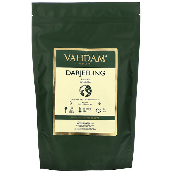 Vahdam Teas, Black Tea,  Daily Darjeeling, 3.53 oz (100 g)