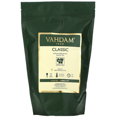 Купить Vahdam Teas Black Tea, Classic English Breakfast, 16 oz