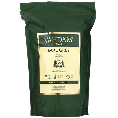Купить Vahdam Teas Black Tea, Earl Grey Citrus, 16oz (454 g)