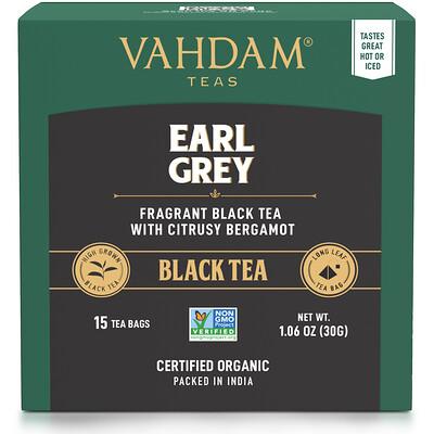 Vahdam Teas Earl Grey, черный чай с цитрусовыми и бергамотом,30мг (1,06унции)