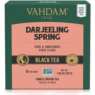 Vahdam Teas, Black Tea, Darjeeling,  15 Tea Bags, 1.06 oz (30 g)