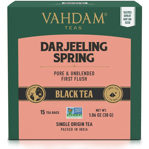Black Tea, Darjeeling,  15 Tea Bags, 1.06 oz (30 g)