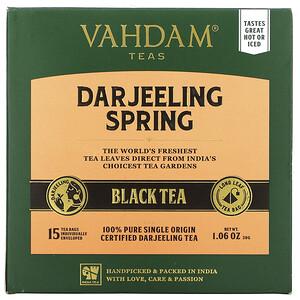 Vahdam Teas, First Flush Black Tea, Darjeeling,  30 Tea Bags, 1.06 oz (30 g)