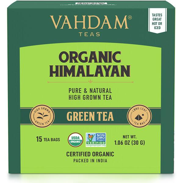 Green Tea, Organic Himalayan, 15 Tea Bags, 1.06 oz (30 g)